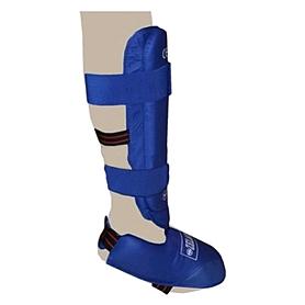 Фото 2 к товару Защита для ног (голень+стопа) разбирающаяся PU ZLT синяя