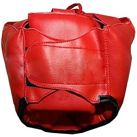 Фото 2 к товару Шлем тренировочный Matsa PVC красный