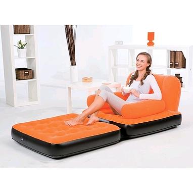 Кресло надувное раскладное BestWay  (с ворсовой поверхностью)