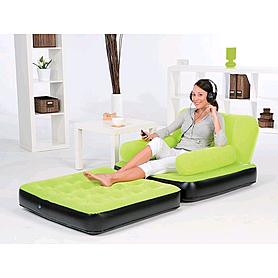 Фото 2 к товару Кресло надувное раскладное BestWay  (с ворсовой поверхностью)