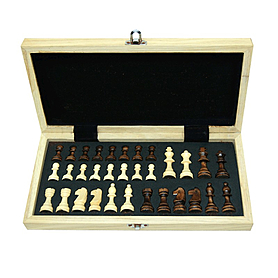 Фото 1 к товару Шахматы в деревянной коробке