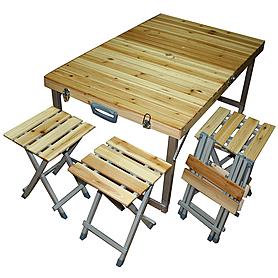 Стол раскладной + 4 стула C03-4