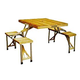 Стол раскладной + 4 стула с креплением