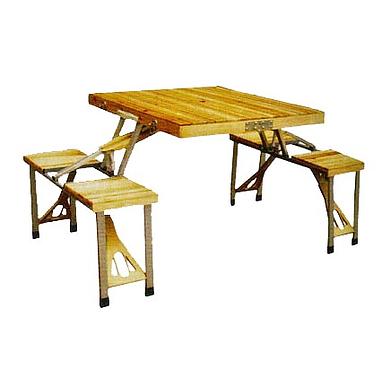 Стол раскладной + 4 стула с креплением C03-1