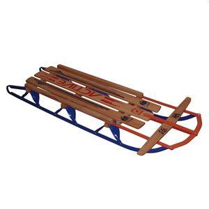 Санки металлические с деревянным сидением Snow Sleds