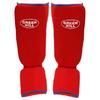 Защита для ног (голень+стопа) трикотажная Green Hill красная - фото 2