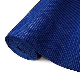 Фото 2 к товару Коврик для йоги (йога-мат) синий 4 мм