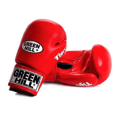 Перчатки боксерские Green Hill Tiger красные