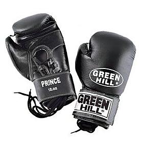 Фото 1 к товару Перчатки боксерские Green Hill Prince черные