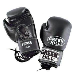 Перчатки боксерские Green Hill Prince черные
