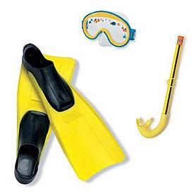Фото 1 к товару Набор для подводного плавания детский 55956 Intex для девочек