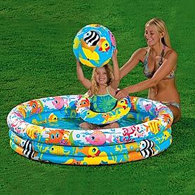 Фото 1 к товару Набор надувной Intex бассейн (132x28 см), мяч (51 см) и круг (51 см)