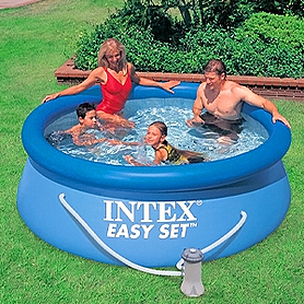 Фото 1 к товару Бассейн надувной Intex 56972 (244x76 см) с фильтрующим насосом