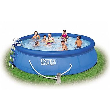 Бассейн надувной Intex 56912 (457x122 см) с фильтрующим насосом и аксессуарами