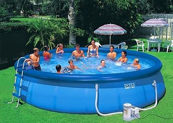 Бассейн надувной Intex 56417 (549x107 см) с фильтрующим насосом и аксессуарами