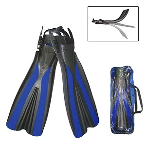Ласты с открытой пяткой Dolvor F31 синие, размер - 40-42