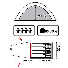 Фото 2 к товару Палатка четырехместная кемпинговая Sol Anchor 4
