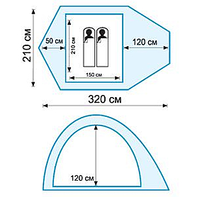 Фото 2 к товару Палатка двухместная Tramp Lair 2