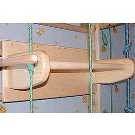 Фото 3 к товару Спортивный уголок 240 см с турничком (брусьями) и доской для пресса 664-383