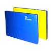 Мат гимнастический 120х80х8 см желто-синий - фото 1