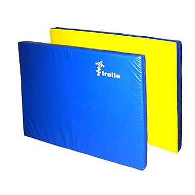Мат гимнастический 120х80х8 см желто-синий