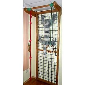 Гладиаторская сетка из бука 240 см с турником и веревочным комплектом