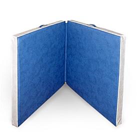 Мат гимнастический раскладной 100х100х10 и 100х100х10 см (светло-синий)