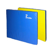 Мат гимнастический 100х100х8 см желто-синий - фото 1