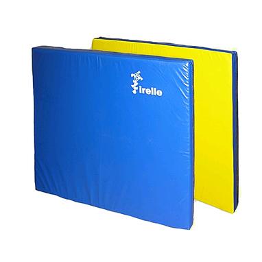 Мат гимнастический 100х100х8 см желто-синий