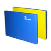 Мат гимнастический 100х200х8 см желто-синий - фото 1