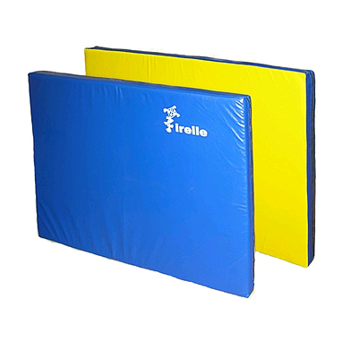 Мат гимнастический 100х200х8 см желто-синий