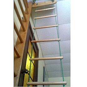 Фото 3 к товару Лестница для шведской стенки веревочная Ирель