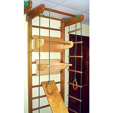 Спортивный уголок 240 см с турничком, брусьями (до 100 кг) и доской из бука
