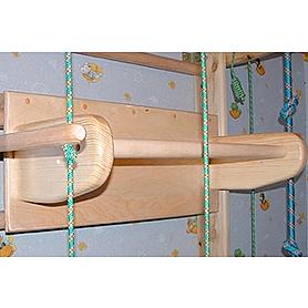 Фото 3 к товару Спортивный уголок 240 см с турничком, брусьями (до 100 кг) и доской из бука