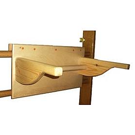 Фото 2 к товару Спортивный уголок 240 см (шведская стенка + гладиаторская сетка) из бука 467-344-5