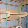 Спортивный уголок 210 см (шведская стенка + гладиаторская сетка) из бука 467-344-4 - фото 2