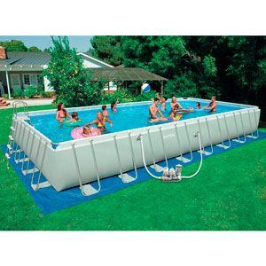 Бассейн каркасный Intex 54988 (975x488x132 см) с фильтр. насосом с хлорогенератором, лестницей и аксессуарами