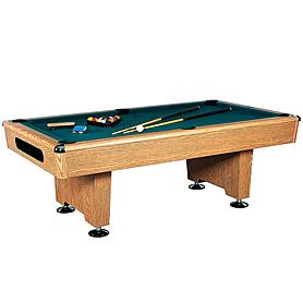Фото 1 к товару Стол бильярдный Eliminator (дуб) 8 футов + комплект для игры
