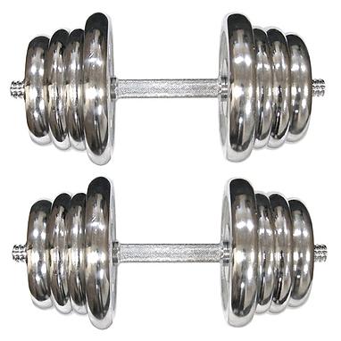 Гантели наборные хромированные 2 шт по 25 кг