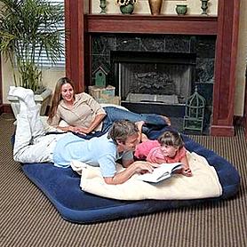 Фото 2 к товару Матраc надувной ортопедический двуспальный Bestway 67003 (203х152х22 см)