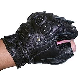 Фото 2 к товару Перчатки для фитнеса без пальцев (кожа)