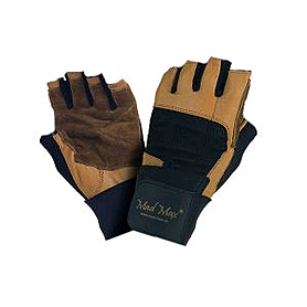Перчатки спортивные Mad Max Professional коричневые - S