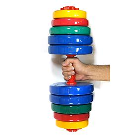 Фото 2 к товару Гантели наборные цветные 2 шт по 20 кг