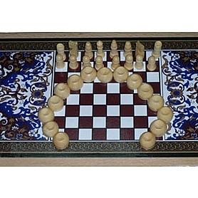 Фото 2 к товару Шахматы-нарды деревянные