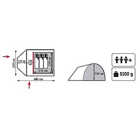 Фото 2 к товару Палатка четырехместная Totem Carriage