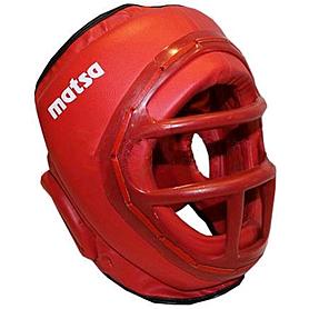 Шлем с пластмассовой маской (PVC) World Sport красный