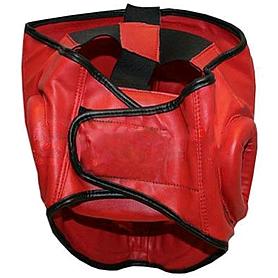 Фото 2 к товару Шлем с пластмассовой маской (PVC) World Sport красный