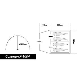 Фото 2 к товару Палатка четырехместная Coleman X-1004