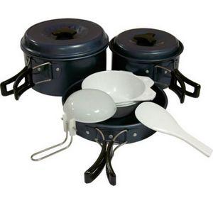Набор посуды из анодированного алюминия на 2-3 персоны Tramp TRC-023