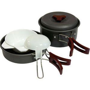 Набор посуды из анодированного алюминия на 1-2 персоны Tramp